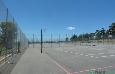 Netball and basketball courts. Roma MItchell School.