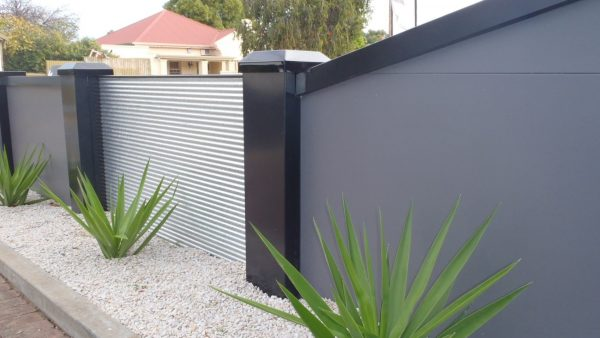 11. 1.2m high wall with mini-orb infill. Edwardstown, SA.
