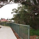 11.  Bikeway barrier with safety rail. Tea Tree Gully, SA.