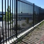 13. 1800mm high secuity fencing with pressed top spear.