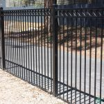 19. 1200mm high fencing with decorative crosses.