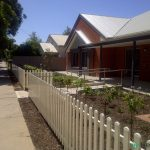 22. Steel picket fence. Brompton, SA.