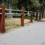 7. Metal bikeway barrier.